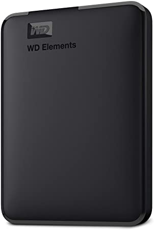 4. WD 2TB Elements Portable External Hard Drive, USB 3.0, Compatible with PC, Mac, Playstation & Xbox