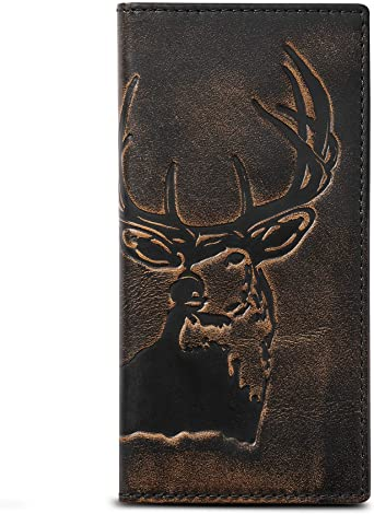 7. HOJ Co. DEER Long Wallet For Men | Full Grain Leather With Hand Burnished Finish