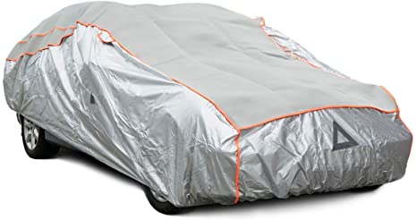 6. Navaris Hail-Proof Car Cover - Padded Weatherproof Protection Against Hail, Rain, Water, Dust- Size L