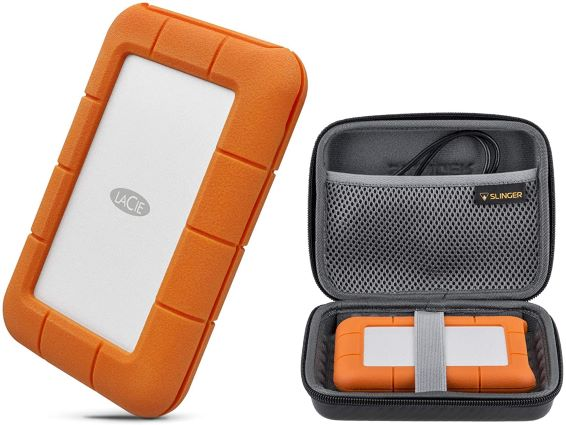5. LaCie Rugged Thunderbolt USB-C 5TB Portable External Hard Drive HDD USB 3.0 Compatible for Mac and PC