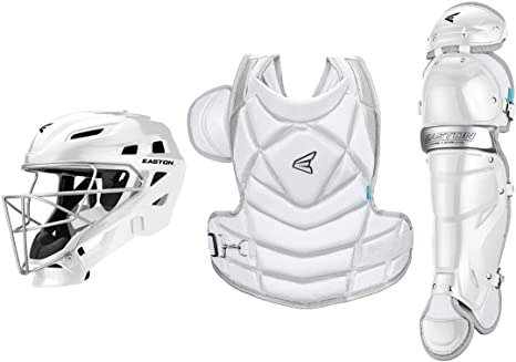 9. EASTON THE FUNDAMENTAL BY JEN SCHRO Softball Catchers Protective Box Set, 2021, Helmet + Steel Cage, Chest Protector