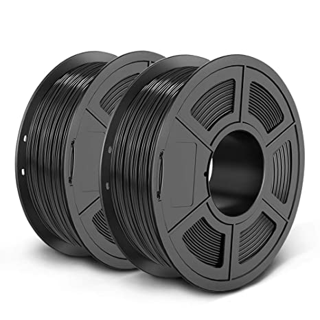 10. UNLU PETG 3D Printer Filament, Dimensional Accuracy +/- 0.02 mm, 2kg, 1.75 mm, Black+Black