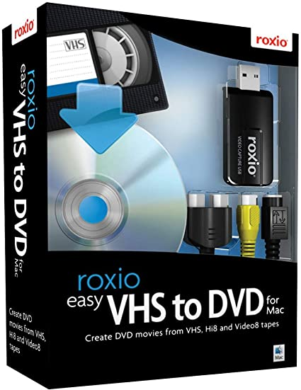 4. Roxio Easy VHS to DVD for Mac | VHS, Hi8, V8 Video to DVD or Digital Converter [Mac Disc]