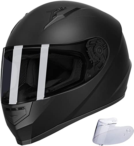 4. GLX Unisex-Adult GX11 Compact Lightweight Full Face Motorcycle Street Bike Helmet with Extra Tinted Visor DOT Approved