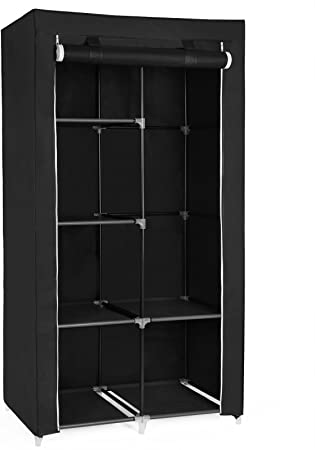 9. SONGMICS 34 Inch DIY Closet Organizer Portable Wardrobe with Non-Woven Fabric, Multiple Ways to Assemble Meets Different Needs