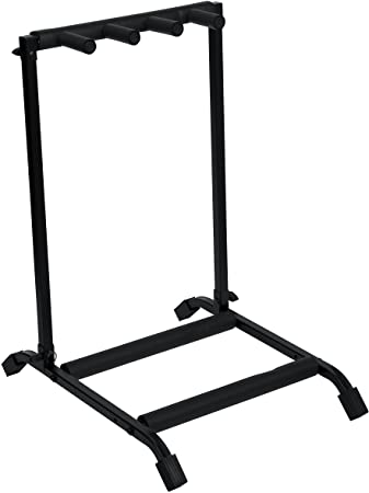 2. Rok-It Multi Guitar Stand Rack with Folding Design; Holds up to 3 Electric or Acoustic Guitars (RI-GTR-RACK3)