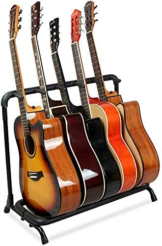 7. Folding Multi-Guitar Display Rack 5 Guitar Stand Multi-Instrument Floor Stand Guitar Rack Holder Stand Accessories for Home or Studio